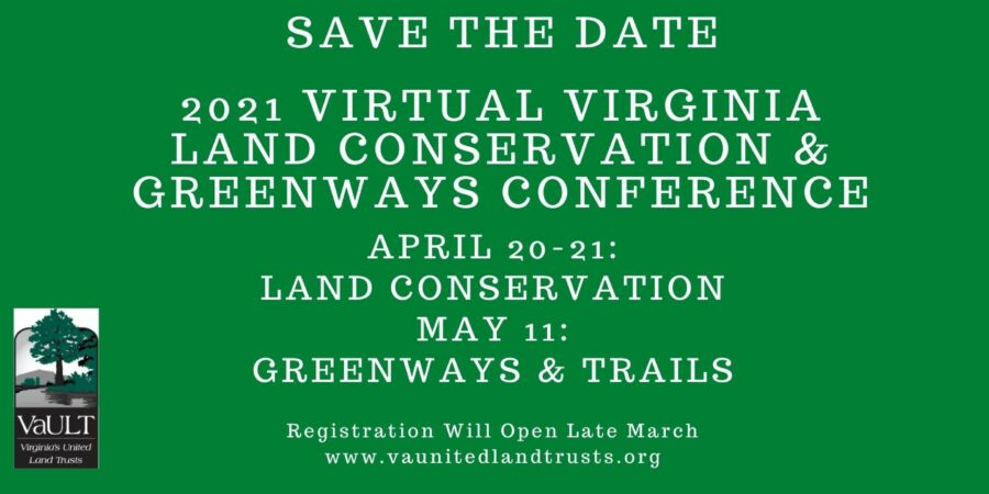 Save the Date for 2021 Land Conservation & Greenways Conference